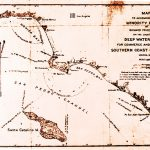 Thumbnail: A map looking at San Pedro Bay vs. Santa Monica Bay for the eventual location of a Port complex. Despite powerful opposition from railroad interests, San Pedro Bay finally was chosen.