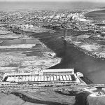 Thumbnail: The Ford plant, foreground, opened in 1930, turning out vehicles until 1957. It was torn down in 1990.