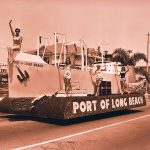 Thumbnail: The Port was a big booster of the Miss Universe Pageant, which started in Long Beach in 1952. Here contestants ride a Port float in the annual pageant parade down Ocean Boulevard.