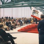 Thumbnail: Dignitaries gather for the dedication of the Gerald Desmond Bridge, 1968.