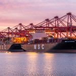 Thumbnail: Three MSC ships are docked at Total Terminals International at Pier T, the PortÕs largest terminal.
